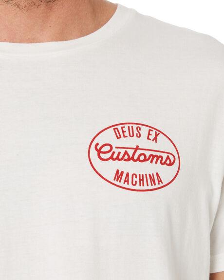VINTAGE WHITE MENS CLOTHING DEUS EX MACHINA TEES - DMW2011251CVWHT