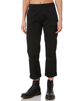 BLACK WOMENS CLOTHING BRIXTON PANTS - 04139BLACK