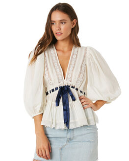IVORY WOMENS CLOTHING FREE PEOPLE FASHION TOPS - OB915879-1103