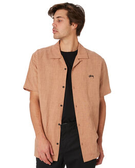 TAN MENS CLOTHING STUSSY SHIRTS - ST092401TAN