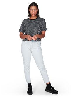 BLACK WOMENS CLOTHING RVCA TEES - R291693BLK