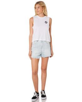 WHITE WOMENS CLOTHING SANTA CRUZ SINGLETS - SC-WTC7368WHI
