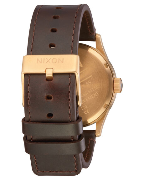 GOLD BLACK BROWN MENS ACCESSORIES NIXON WATCHES - A105-3087-GLDBL