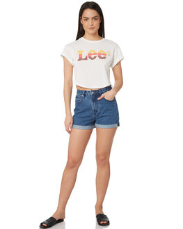 VINTAGE WHITE WOMENS CLOTHING LEE TEES - L-651747-922