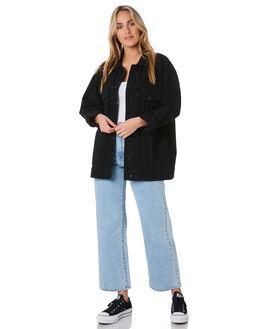 OVERDYED BLACK WOMENS CLOTHING ABRAND JACKETS - 71826-3605