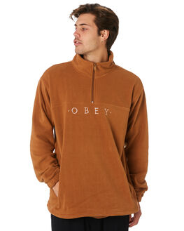 BLACK MENS CLOTHING OBEY JUMPERS - BY094202BLK