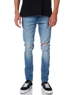 BORN BLUE BROKEN MENS CLOTHING NEUW JEANS - 328963676
