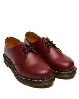 CHERRY RED SMOOTH MENS FOOTWEAR DR. MARTENS FASHION SHOES - SS11838600CHERM