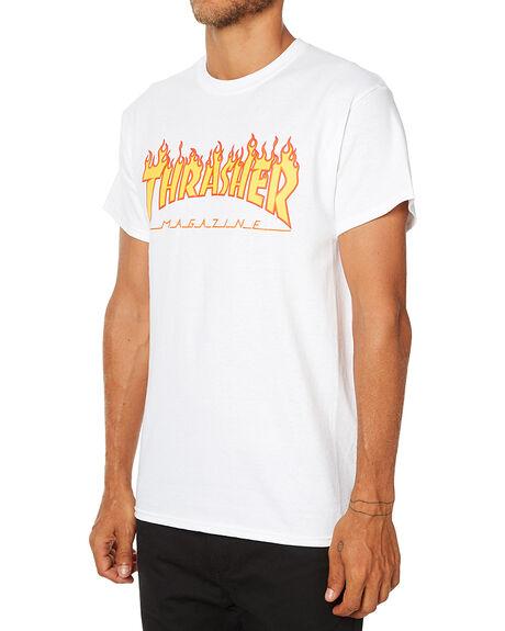 WHITE MENS CLOTHING THRASHER TEES - 311019WHT