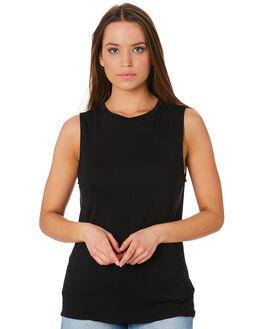 BLACK WOMENS CLOTHING BETTY BASICS SINGLETS - BB542BLK