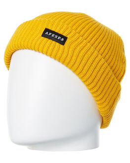 MUSTARD MENS ACCESSORIES AFENDS HEADWEAR - A182600MUS