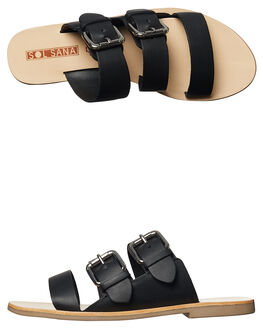 BLACK WOMENS FOOTWEAR SOL SANA FASHION SANDALS - SS172S395BLK