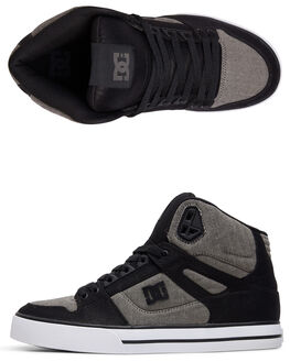 BLACK/HERRINGBONE MENS FOOTWEAR DC SHOES SNEAKERS - ADYS400046-KHB