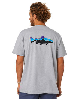 DRIFTER GREY MENS CLOTHING PATAGONIA TEES - 39166DFTG