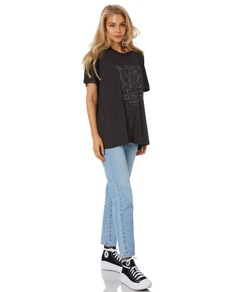 WASHED BLACK WOMENS CLOTHING ALL ABOUT EVE TEES - 6473033WBLK