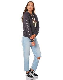 OIL GREY HEATHER WOMENS CLOTHING HURLEY JUMPERS - CD9242-097