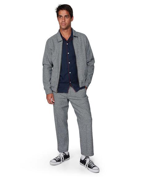 BLACK MENS CLOTHING RVCA JACKETS - RV-R307433-BLK