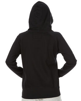 BLACK WOMENS CLOTHING HURLEY JUMPERS - AGFLTTS700A
