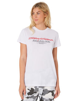 WHITE WOMENS CLOTHING STUSSY TEES - ST183014WHI