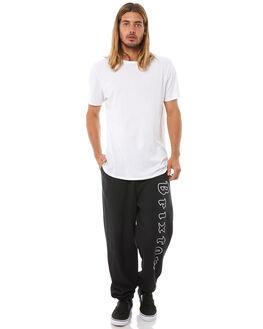 BLACK WHITE MENS CLOTHING BRIXTON PANTS - 04097BKWHT