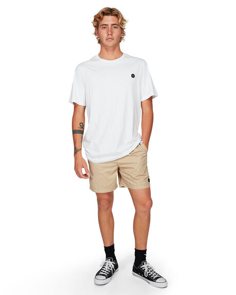 WHITE MENS CLOTHING RVCA TEES - RV-R192059-WHT