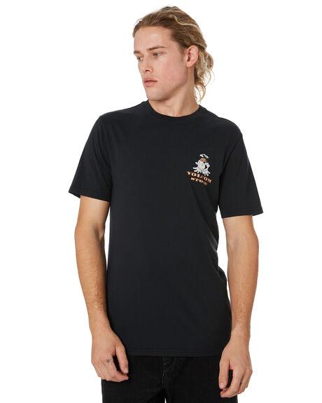 BLACK MENS CLOTHING VOLCOM TEES - A5041902BLK