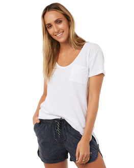 WHITE WOMENS CLOTHING RUSTY TEES - TTL0863WHT