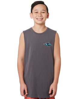 DARK GREY KIDS BOYS RIP CURL TOPS - KTEVE21221