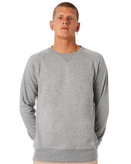 GREY MARLE MENS CLOTHING ACADEMY BRAND JUMPERS - 18W517GRYML