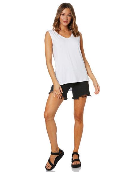 WHITE WOMENS CLOTHING BETTY BASICS SINGLETS - BB584HS20WHT