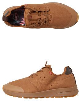 WOODSMOKE BROWN MENS FOOTWEAR GLOBE SNEAKERS - GBDARTXC_17286