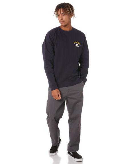 NAVY MENS CLOTHING POLER HOODIES + SWEATS - 213APM2503-NVY