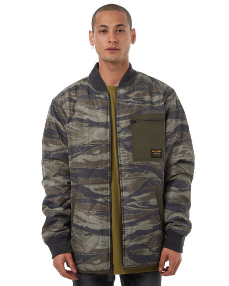 OLIVE GREEN MENS CLOTHING BURTON JACKETS - 161421300