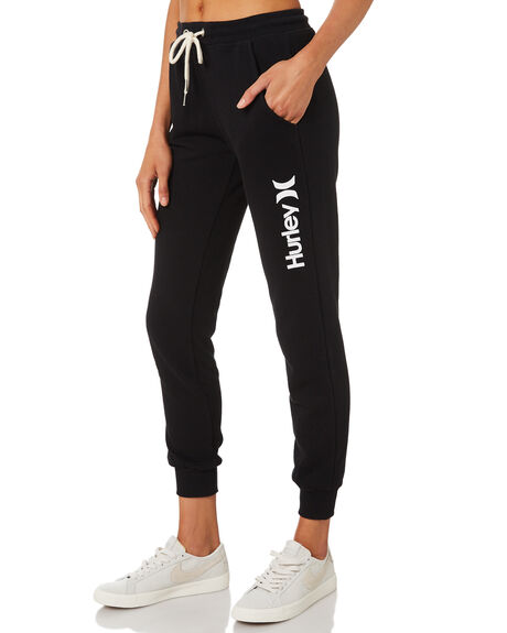 BLACK WOMENS CLOTHING HURLEY PANTS - AGPTOC19010