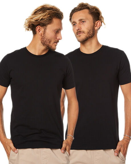BLACK MENS CLOTHING GLOBE TEES - GB00931022BLK