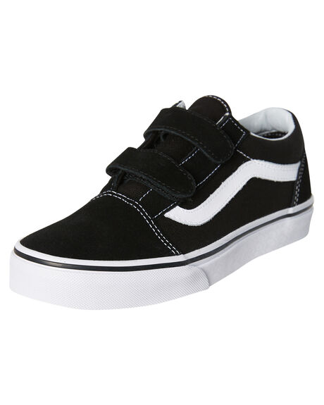 BLACK WHITE KIDS BOYS VANS SNEAKERS - VN-0VHE6BTBKWH