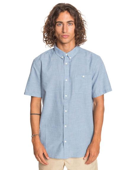 BLUE YONDER FIREFALL MENS CLOTHING QUIKSILVER SHIRTS - EQYWT03948-BGZ4