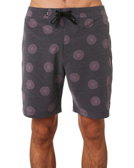 DIRTY BLACK MENS CLOTHING BANKS BOARDSHORTS - BS0167DBLK