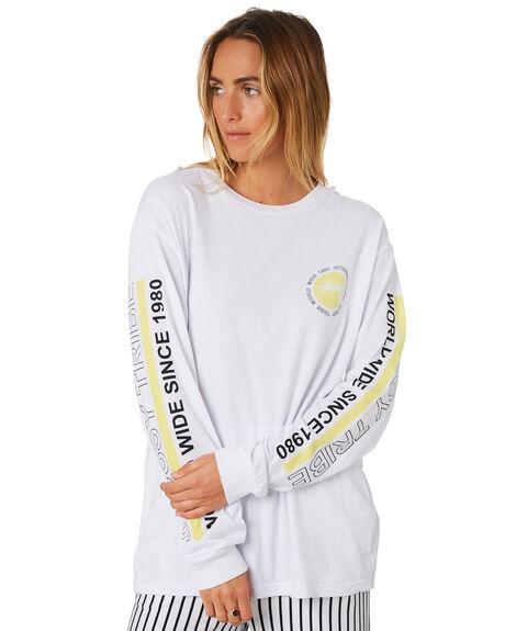 WHITE WOMENS CLOTHING STUSSY TEES - ST196021WHI