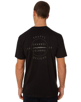 BLACK MENS CLOTHING CHANNEL ISLANDS TEES - 20464100001BLK
