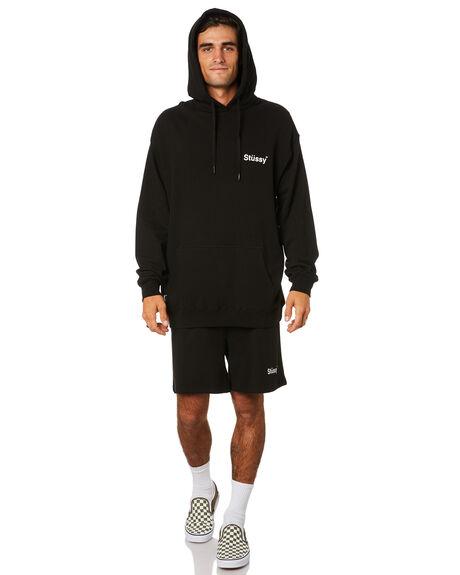 BLACK MENS CLOTHING STUSSY JUMPERS - ST015211BLACK