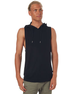 BLACK MENS CLOTHING SILENT THEORY SINGLETS - 4085002BLK