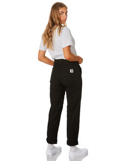 BLACK RINSED WOMENS CLOTHING CARHARTT PANTS - I0239538902