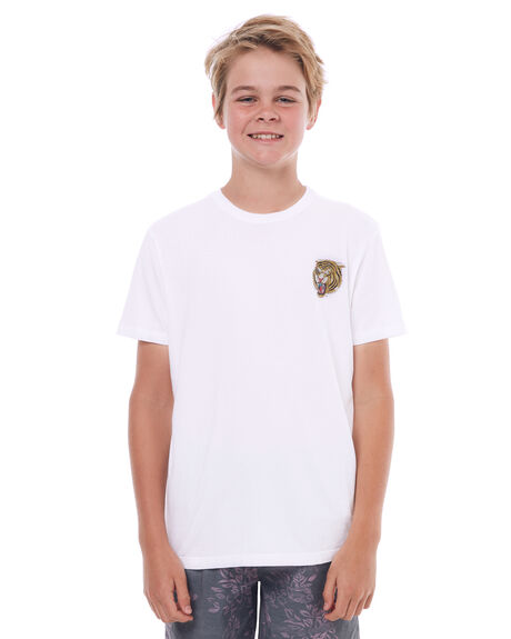 WHITE KIDS BOYS HURLEY TEES - ABTSHBTT10A
