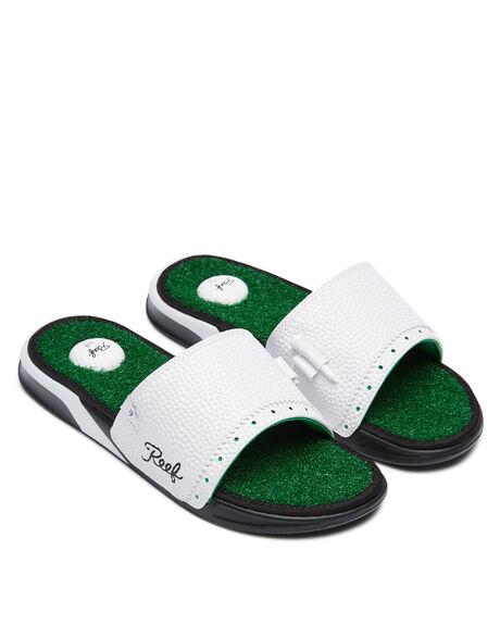 GREEN MENS FOOTWEAR REEF SLIDES - CI3748GRN