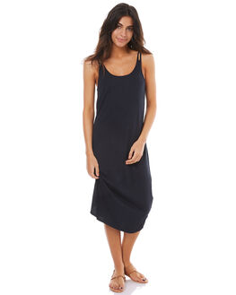 ANTHRACITE WOMENS CLOTHING ROXY DRESSES - ERJKD03147KVJ0
