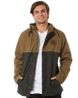 DARK SAND MENS CLOTHING SANTA CRUZ JACKETS - SC-MJA8782DSAND