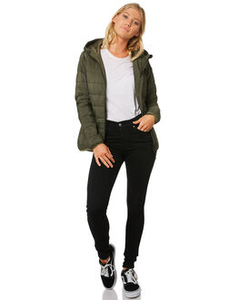 OLIVE WOMENS CLOTHING RIP CURL JACKETS - GJKCL10058