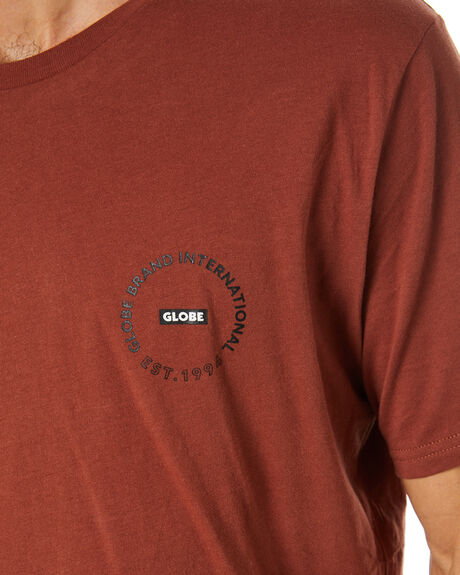 RUST MENS CLOTHING GLOBE TEES - GB01930028RUST