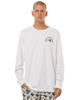 WHITE MENS CLOTHING DEUS EX MACHINA TEES - DMF71679EWHT